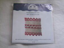 Kit Hardanger DMC - Rond de serviette rouge et bis neuf emballé