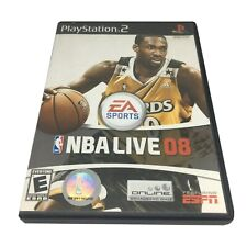 NBA Live 08 (Sony PlayStation 2, 2007) Complete PS2 NTSC-U/C