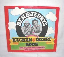 Ben & Jerry's Homemade Ice Cream & Dessert Book  B Cohen J Greenfield 1st Ed PB