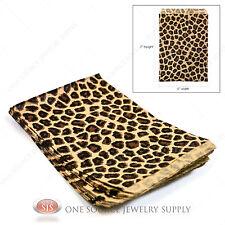 "100 Leopard Print Gift Bags Leopard Pattern Merchandise Bags Paper Bags 5""x 7"""