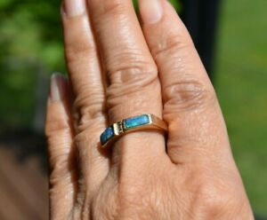 18ct Gold Opal with Central Diamonds Dress Ring