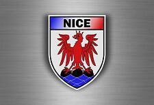 Sticker decal car bike motorcycle souvenir france flag city of nice shield crest