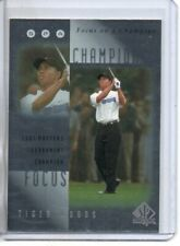 2001 SP AUTHENTIC TIGER WOODS FOCUS ON A CHAMPIONSHIP #FC4