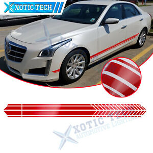 For Cadillac Escalade CTS Side Door Fender Glossy Red Decal Graphics Sticker