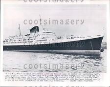 1952 French Passenger Ship SS Flandre Press Photo