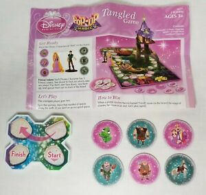 Disney Pop Up Magic Tangled Replacement Friend Tokens Set Of 6 Game Pieces Parts