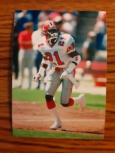 Deion Sanders Falcons Football 4x6 Game Photo Picture Card