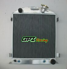 3 ROW 62MM FOR Ford 1932 chopped hot rod w/Chevy 350 V8 engine aluminum radiator