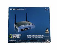 Linksys WRT54GL Wi-Fi Wireless-G Broadband Router 2.4 GHz