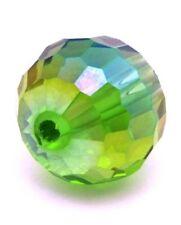 Glasschliffperle ca. 12mm grün AB 1Stk