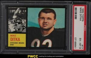 1962 Topps Football Mike Ditka ROOKIE RC #17 PSA 6 EXMT