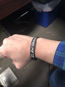I Am Second Black Wristband Rubber Silicone Bracelet Wrist Band Live Jesus God