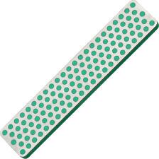 "DMT Extra Fine Diamond Stone A4E Measures 4 3/8"" x 7/8"". Green, extra fine grit."