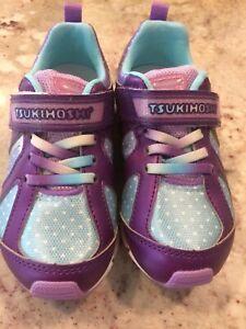 NEW Tsukihoshi Purple & Light Blue Rainbow Sneaker - Girls, Size: Toddler 9.5