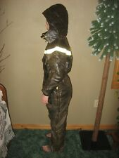 Vintage Ladies John Deere Snowmobile Suit Black one piece Womens