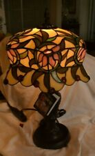 """Dale Tiffany Stained-Glass Table Lamp 22"""" Tall x 13"""" Diameter Victorian Style"""