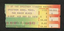 1978 Moody Blues concert ticket stub Philadelphia Octave Nights In White Satin