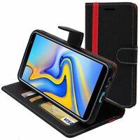 Coque Samsung J6+ Galaxy J610F (2018) Portefeuille Housse PU Cuir Porte-Cartes