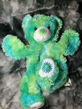 Build A Bear Babw Spring Flower Bear Green Blue Retired Unstuffed