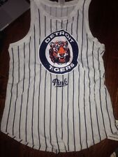 Victorias Secret Pink BLING Detroit Tigers MLB Muscle Tank Top Tee Shirt Top S
