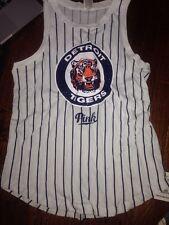 Victorias Secret Pink BLING Detroit Tigers MLB Muscle Tank Top Tee Shirt Top M