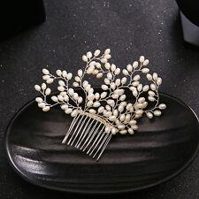 2017 New Handmade Pearl Beaded Bridal Hair Combs Vintage Pearl Hair Comb pin