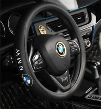 "15"" Car Steering Wheel Cover Genuine Leather For BMW"