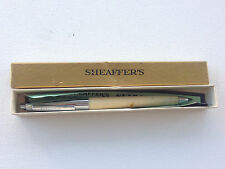 Vintage Sheaffer White Ball Pen with original box and paperwork