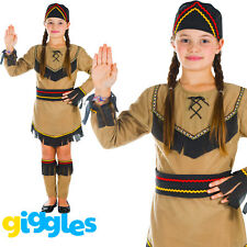 Girls Indian Pocahontas Childs World Book Day Week Fancy Dress Costume Outfit