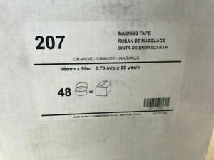 KAR207-34CS AUTO BODY ORANGE PAINT MASKING TAPE 0.70 IN / P X 60 YARDS 48 ROLLS