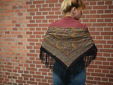 Damen Tuch Schultertuch Schal Wolle 100 x 100 TRUE VINTAGE paisley wooly scarf
