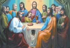 Gesù ultima cena croce PASTORE - 3D foto FLIP 400 mm x 300 MM (NUOVO)
