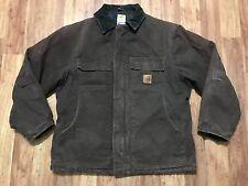 Mens Carhartt C26 Sandstone Arctic Quilt Rancher Work Traditional Coat Jacket L
