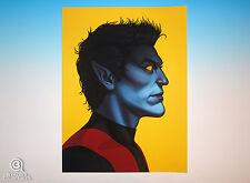 Nightcrawler Mondo Mike Mitchell Portrait Print Marvel Comics X-Men Giclee Proof