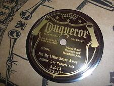 FIDDLIN DOC ROBERTS TRIO CONQUEROR 78 RPM RECORD 8208 PUT MY LITTLE SHOES AWAY
