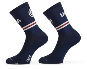Assos Sock USA Cycling Size 0 EU 35-38 Navy Blue Brand New