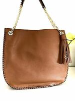 NWT MICHAEL Kors Brown Chelsea Large Whipped Shoulder Bag Purse Leather $368