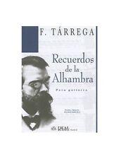 FRANCISCO TARREGA RECUERDOS De la ALHAMBRA PARA Guitarra la musica di chitarra Foglio