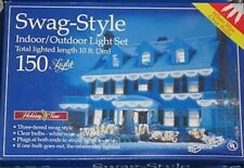 Swag-Style Indoor/Outdoor 150 Clear Light Set