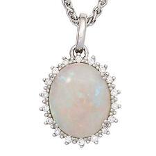 Echte Edelstein-Halsketten & -Anhänger aus Weißgold mit Opal für Damen