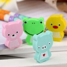 Cute Cartoon Animal Eraser Rubber Pencil Stationery Party Favor Gifts 4pcs/Set