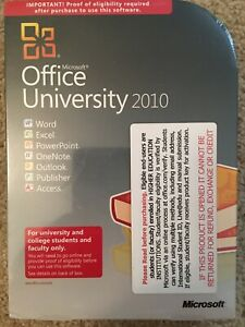 New Sealed Microsoft Office University 2010