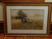 Orig. Frank F. English Watercolor, Listed American Artist (1854-1922), Painting