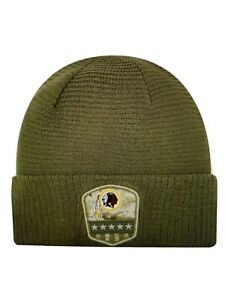 Washington Redskins NFL Salute to Service Cuff Knit Beanie Hat ~ NWT