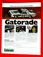 "Darrell Waltrip Gatorade Original Print Ad 8.5 x 11"""