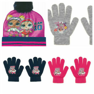 Kids Girls LOL Surprise 2 Pack Of Gloves Or Hats Glam 10 Born To Be Bad New