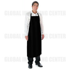 Waterproof Vinyl Apron Durable Adjustable Lightweight Black Extra Long coverage