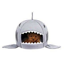 Washable Shark Pet House Cave Bed for Small Medium Dog Cat with Removable Cushio
