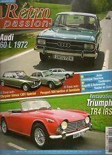 RETRO PASSION 227 AUDI 60 L 1972 PEUGEOT 504 SIMCA 1301 SPECIAL OSI SILVER FOX