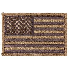 USA AMERICAN FLAG TACTICAL US ARMY MILITARY BADGE COYOTE Hook & Loop PATCH